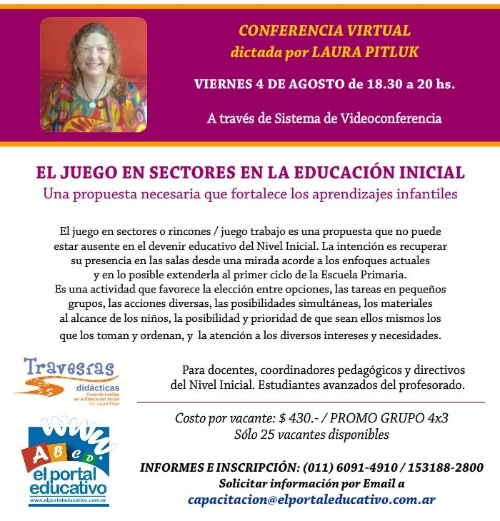 Conferencia Virtual EL JUEGO EN SECTORES EN LA EDUCACIÓN